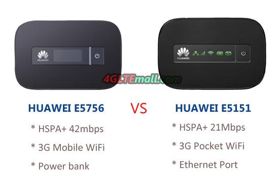 HUAWEI E5756 VS HUAWEI E5151