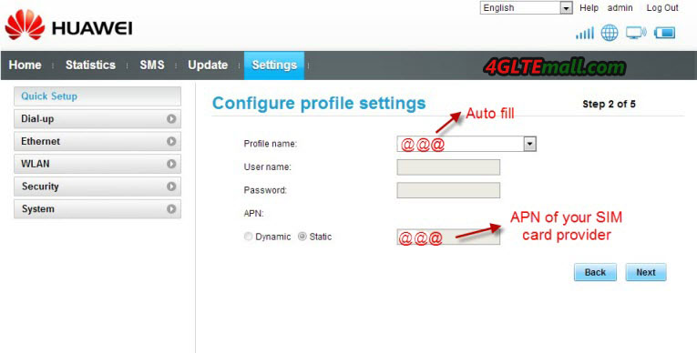 Huawei E5151 3G Configuration and Setup Steps – 4G LTE Mall