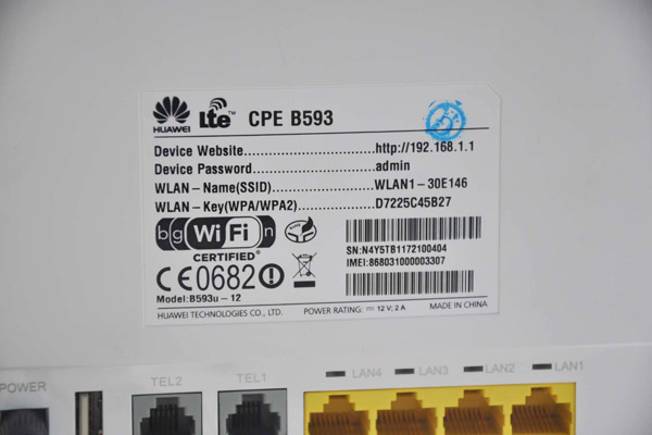 HUAWEI LTE CPE B593 4G Router Installation and Firmware