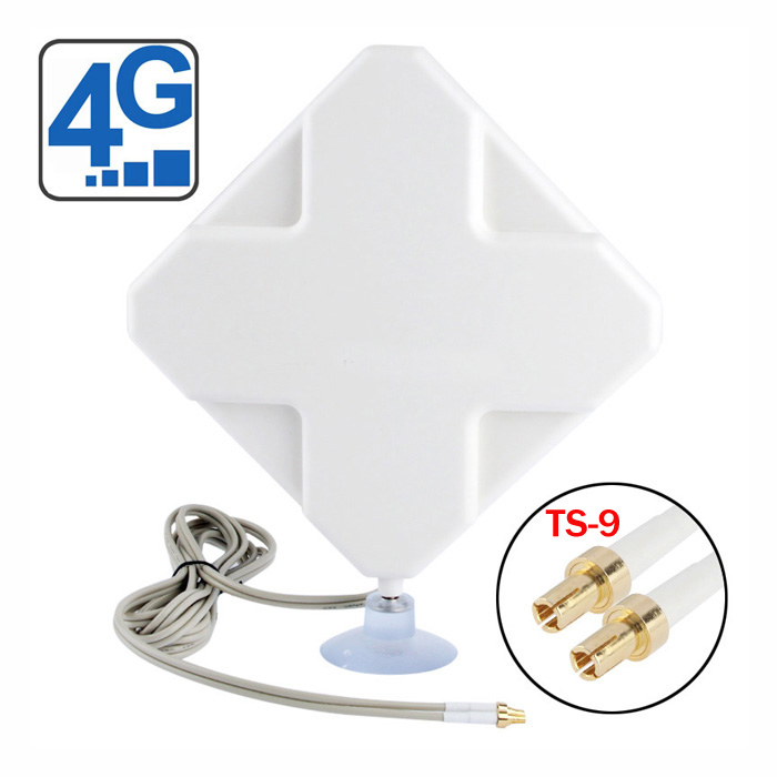 35dbi 4G Antenna with dual TS-9 connector antenna