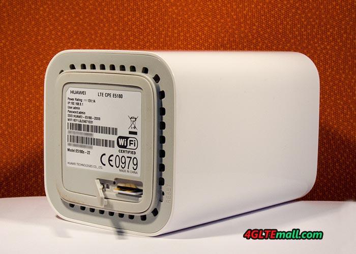 Huawei 4G WiFi Cube E5180 SIM Card slot