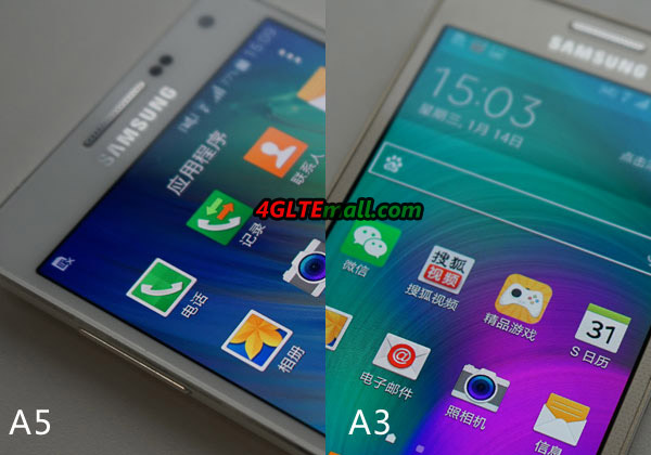 samsung galaxy A5 VS A3 UI