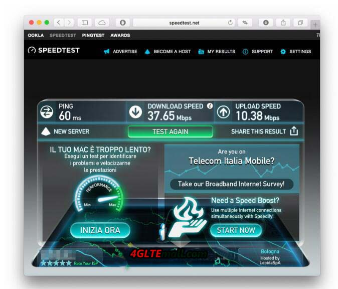 aircard 790s speed test