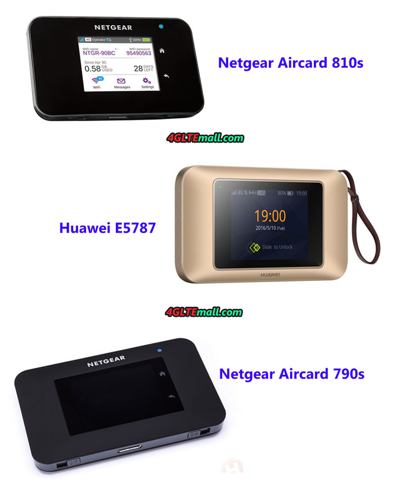 Difference between Netgear Aircard 810s/790s and Huawei