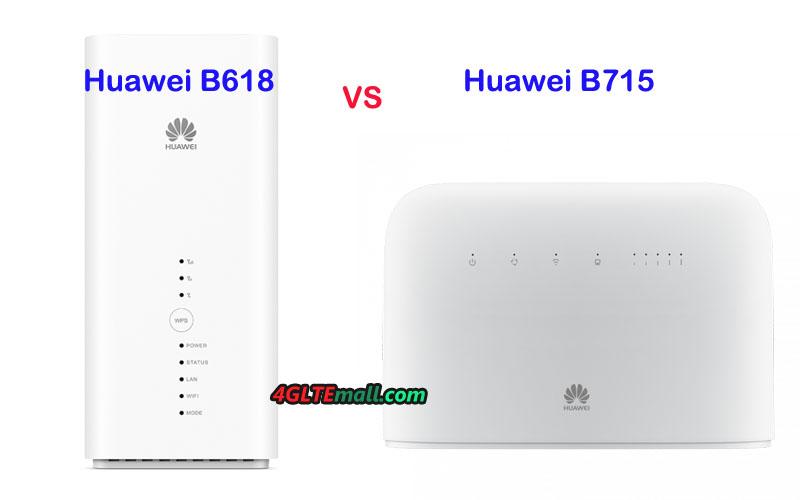 Huawei B715 4G Router VS Huawei B618 LTE CPE