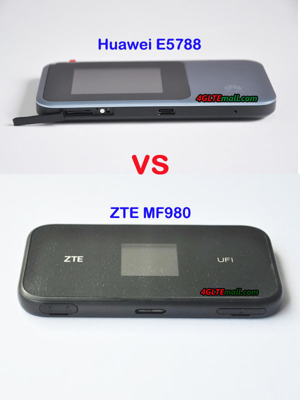 Huawei E5788 VS ZTE MF980 LTE Advanced Pro Mobile Hotspot