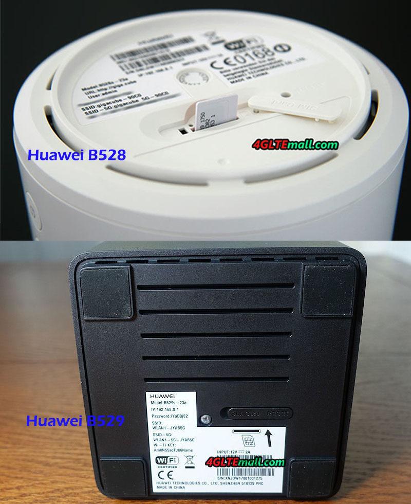 Huawei B528 VS Huawei B529 LTE Cube