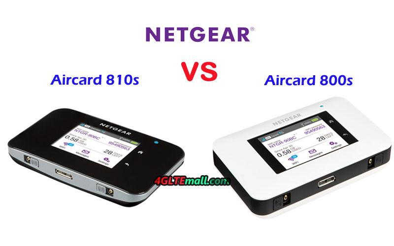 Netgear Aircard 800s vs Aircard 810S - Netgear 4G Router Comparison