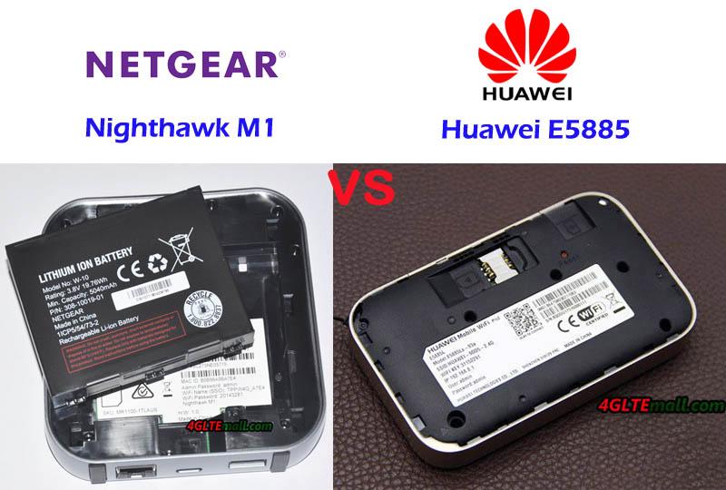 Huawei E5885 VS Netgear Nighthawk M1 Unlocked