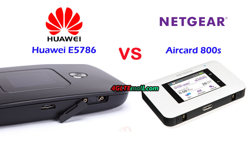 Optus 4G WiFi Modem 800S VS Huawei E5786