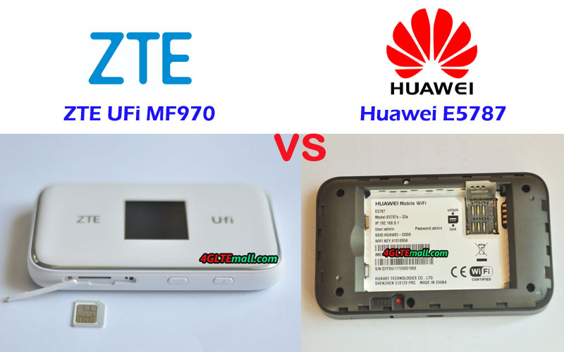 Difference Between Huawei E5787 and ZTE MF970