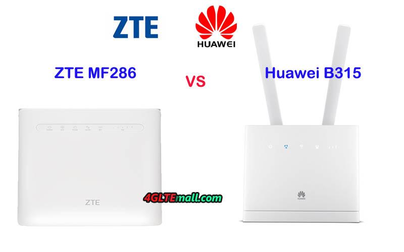ZTE MF286 VS Huawei B315