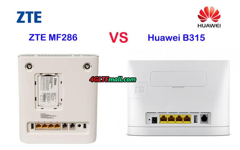 Battle Of 4g Wifi Router Zte Mf286 Vs Huawei B315