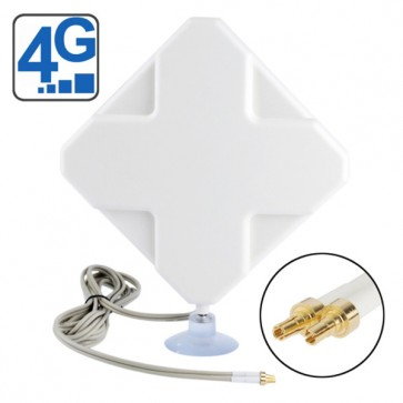 Two CRC-9 Connector 4G Antenna 2M Length