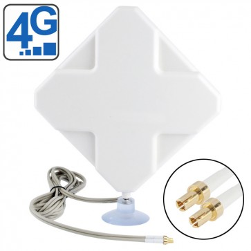 Two TS-9 Connector 4G Antenna 2M Length