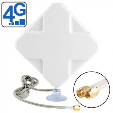 Two SMA Connector 4G Antenna 2M Length 35dBi