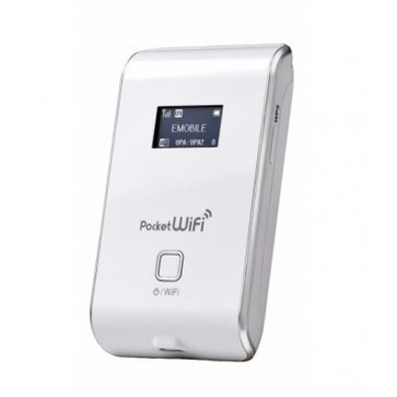 Emobile 4G Hotspot Pocket WiFi LTE GL02P is the 4G mobile Wi-Fi router made by AnyDATA to support Emobile 4G LTE FDD network. Under LTE network,  Pocket WiFi LTE GL02P could support maximum 75Mbps download speed, in most of the LTE area, the real peak dow