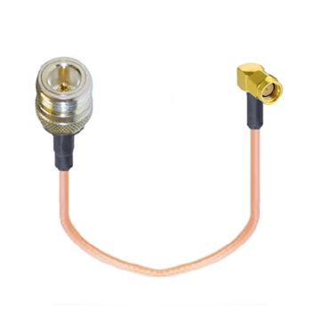 Right Angle RP-SMA-male to N-Female RF Coaxial Pigtail Cable Adapter