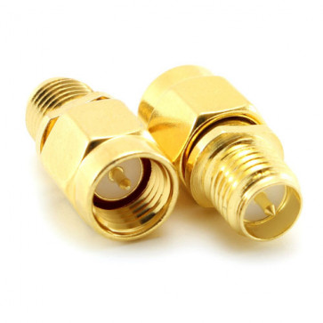 RP-SMA-Female Jack to SMA-Male Jack RF Coaxial Adapter