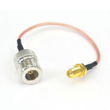 Streight SMA-female Plug to N-female Plug RF Coaxial Pigtail Cable Adapter