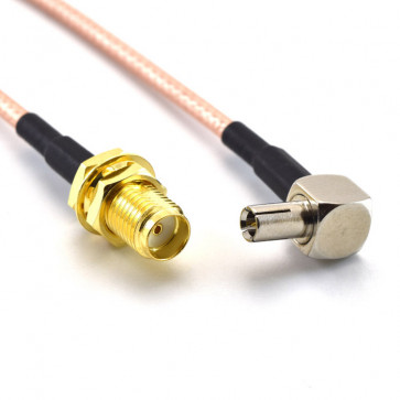 SMA-female Plug to TS-9 Male Jack RF Pigtail Cable Adapter