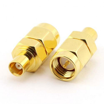SMA-Male to MCX-female RF Coaxial Adapter