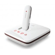Vodafone R101 Sharing dock is to work as a 3G or 4G WiFi Router with a USB Stick. It helps up to 5 users to access internet via WiFi. There is Eternet port to connect LAN cable. The download speed depends on the USB stick plugged on the dock.