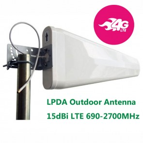 15dBi Log Periodic Yagi LTE Outdoor Antenna Wide-Band 698-960/1710-2700MHz