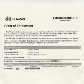 Huawei L-AC6003-8AP-S Huawei AC6003-8-8AP Controller 8AP Authorization Software