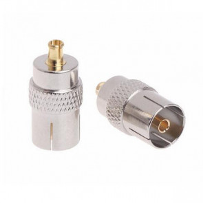 TV-Female to MCX-Male RF Coaxial Adapter