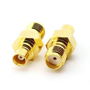 SMA-Female to MCX-Female RF Coaxial Connector
