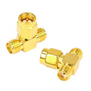 SMA-male to Two SMA-female RF Coaxial Connector