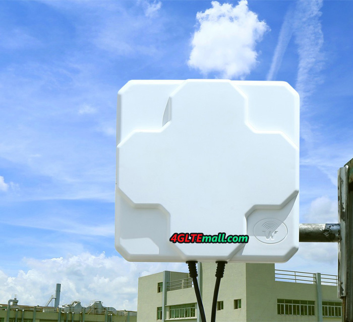 18 dBi High Gain Panel Flat 4G Outdoor LTE Antenna for 4G Router/Dongle/Mobile Hotspot