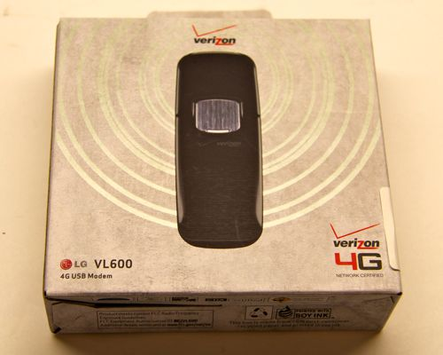 Package of LG VL600 4G LTE Dongle