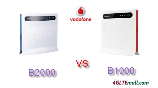 VODAFONE B2000 VS B1000 4G ROUTER