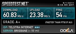 SPEED TEST OF SIERRA 320U 4G LTE MODEM UNDER TESTRA lte NETWORK