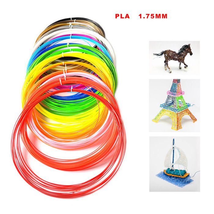 20 Colors 10 Meters 3D Printer Filaments 1.75MM PLA Material