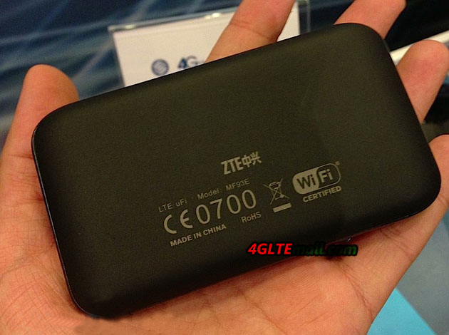 Back of ZTE MF93E 4G LTE Router