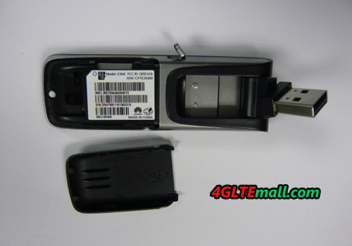 back cover of HUAWEI E368 HSPA+ 21Mbps USB MODEM