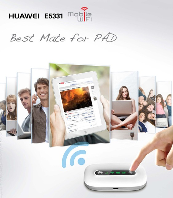 HUAWEI E5331 IS THE BEST MATE FOR PADS