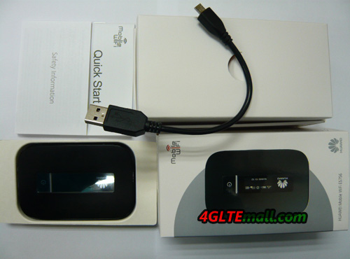 HUAWEI E5756 HSPA+ 42Mbps Mobile Hotspot and Power Bank pacakge contents