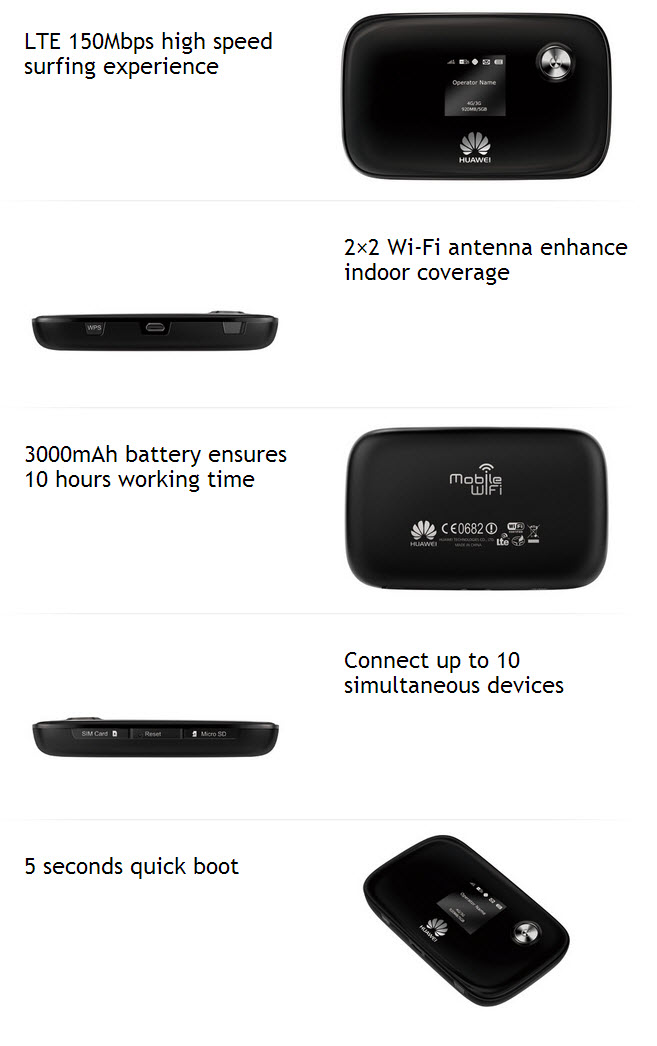huawei E5776 4G LTE Cat4 Router key features