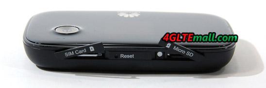 HUAWEI E5776 sim card and microSD card slot