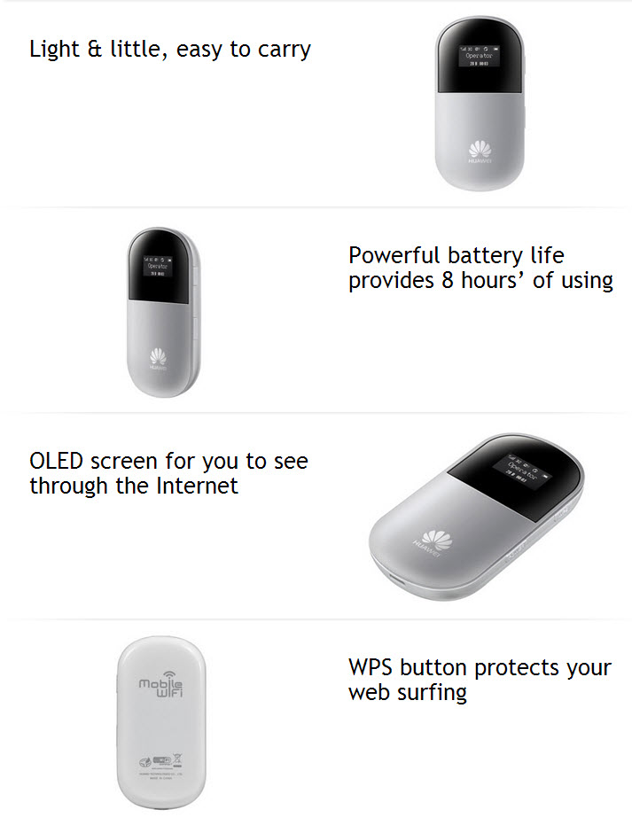 HUAWEI E586 Features and applications