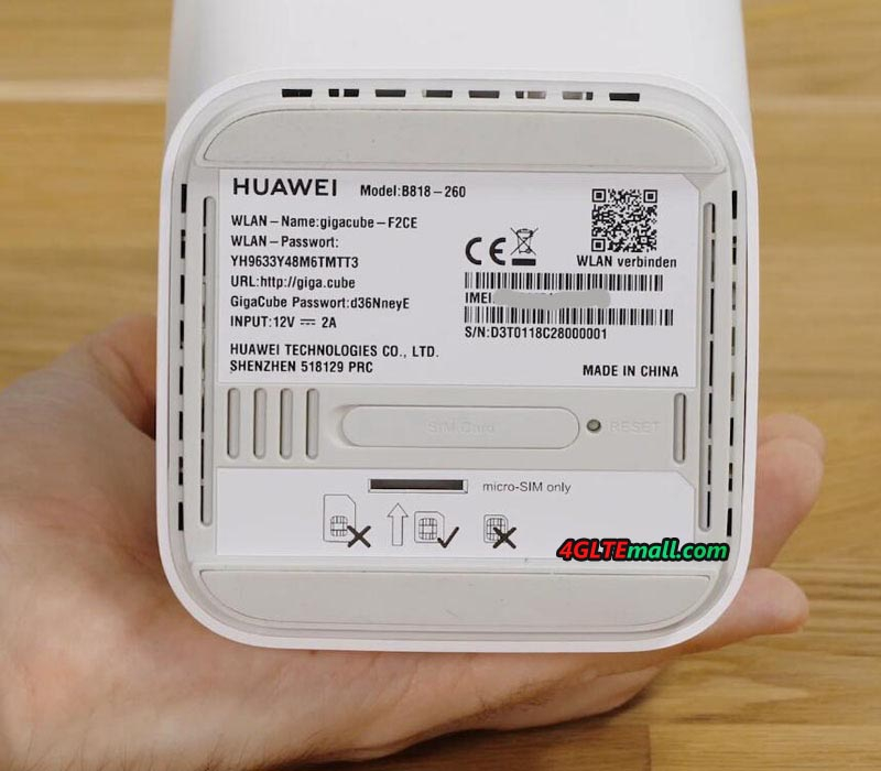 HUAWEI B818 IMEI and WiFi key word
