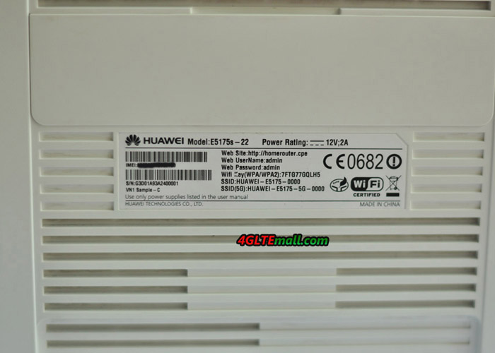 Huawei E5175 back label