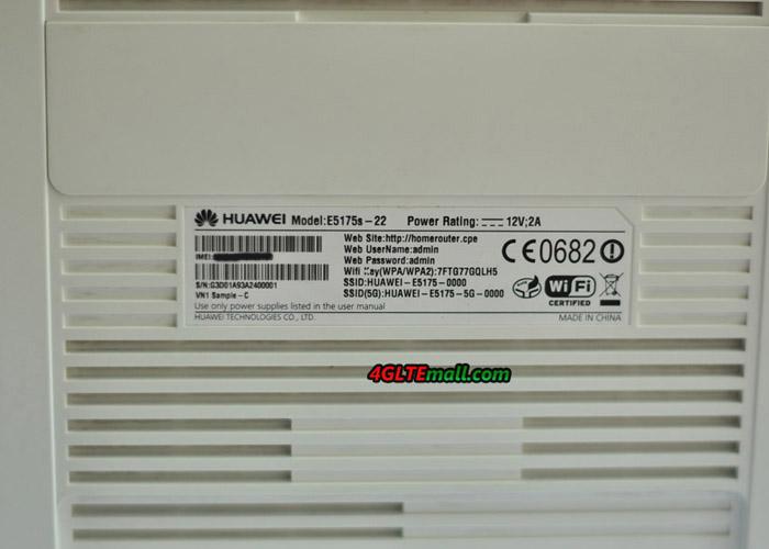 Huawei E5175 back label