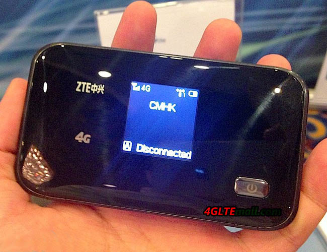 screen of ZTE MF93E 4G Mobile hotspot