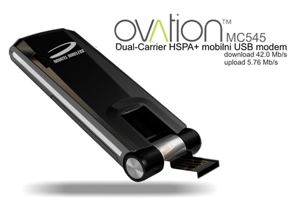 Novatel Wireless Ovation MC545 Dual-Carrier 3G HSPA+ Mobilni USB Modem