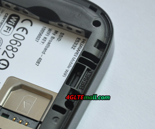 Reset button of HUAWEI E5332